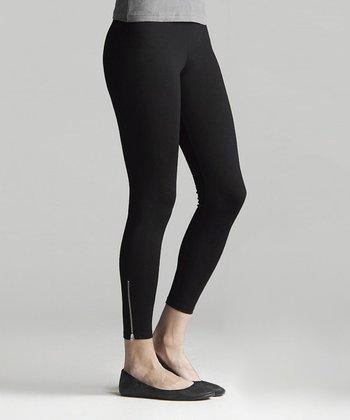 Black Zip It Ponte Leggings - Women & Plus