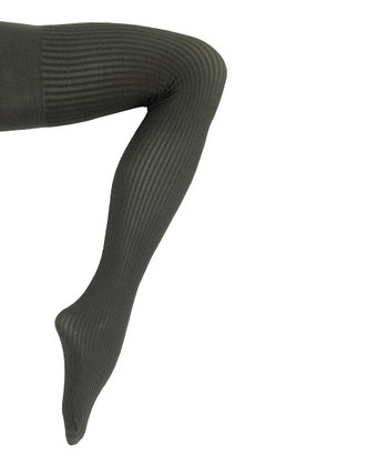 Black Stripe Sheers to You Shaper Tights - Women