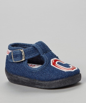 Dark Denim 'C' T-Strap Shoe