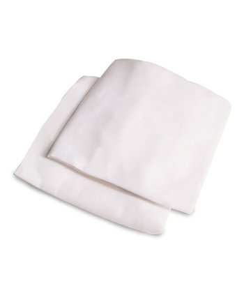 White Crib Sheet - Set of 2