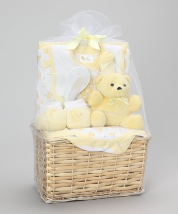 Yellow Buddy Bear Layette Set