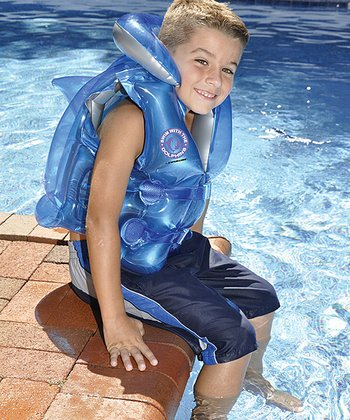 Blue & Silver Swim With the Dolphins Air Vest