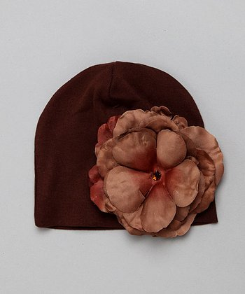Brown Rose Hat - Infant & Toddler