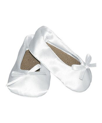 White Bow Doll Slippers
