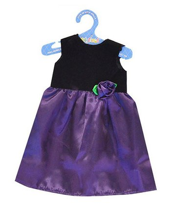 Purple Rosette Doll Dress