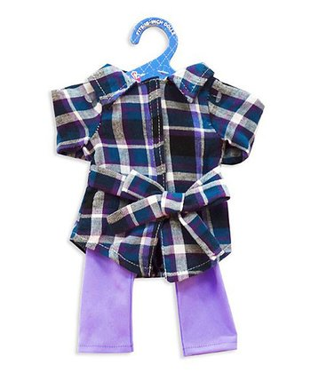 Purple Plaid Doll Outfit