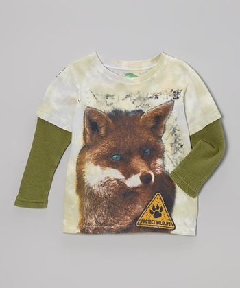 Green Fox Organic Layered Tee - Toddler & Boys