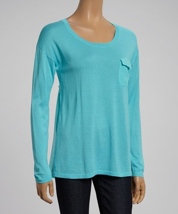 Seaside Aqua Pocketed Tee