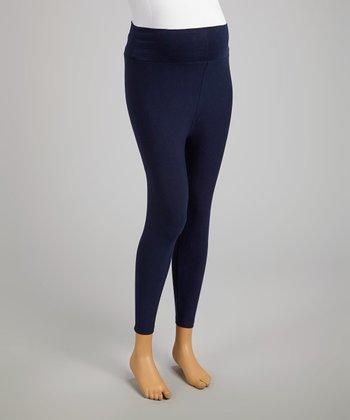 CT Maternity Navy Mid-Belly Maternity Capri Leggings - Women