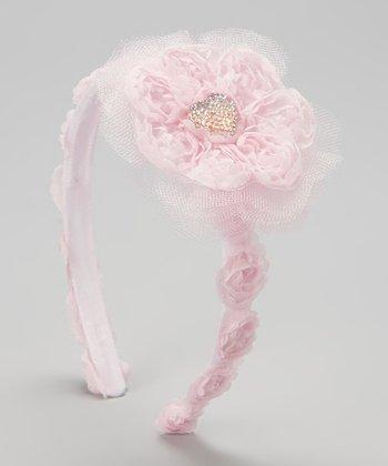 Pink Rosette Gem Headband
