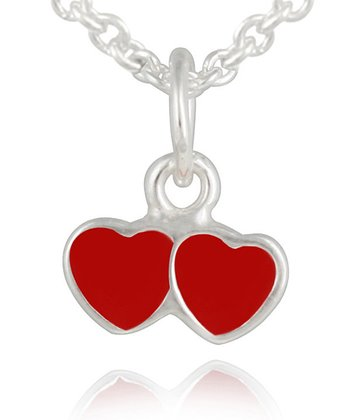 Red Double Heart Pendant Necklace