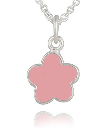 Pink Flower Pendant Necklace