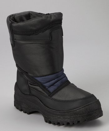 Black & Navy Snow Boot