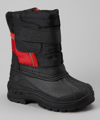 Black & Red Strap Boot