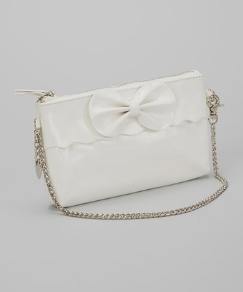White Heart Charm Shoulder Bag