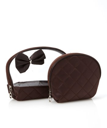 Brown Bow Cosmetic Bag Set
