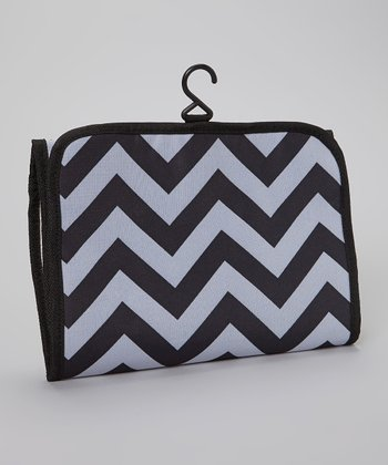 Black & Gray Chevron Cosmetic Bag