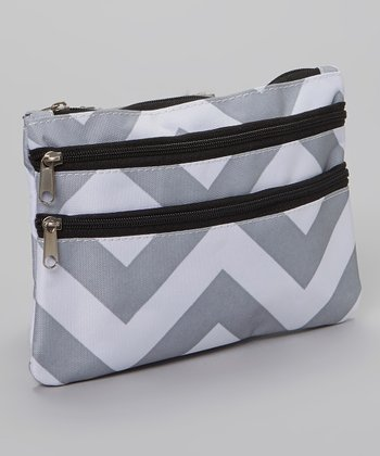 Gray & White Zigzag Coin Purse