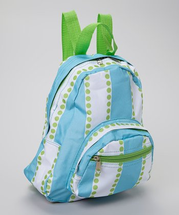 Blue & Green Polka Dot Backpack