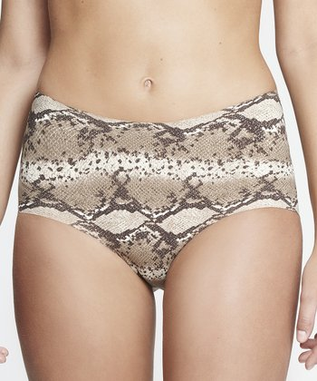 Gray Python Invisible Bikini Briefs - Women