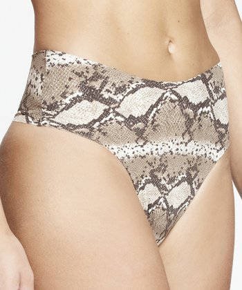 Gray Python Invisible Thong - Women