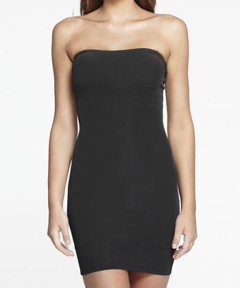 Black Strapless Shaper Slip - Women