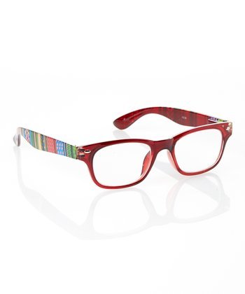 Red Color Block Stripe Readers