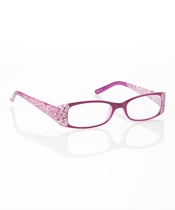 Purple Rhinestone Floral Readers