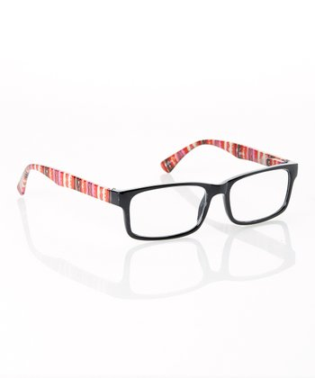 Black & Red Tribal Stripe Readers