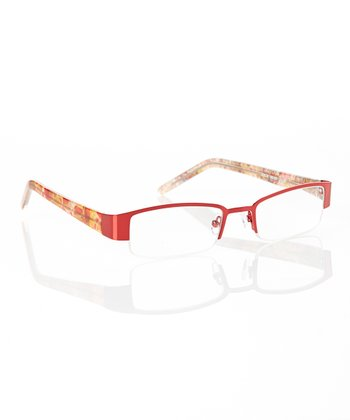 Red Half-Rim Readers