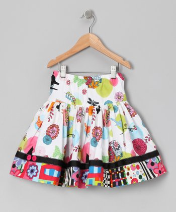 Black & Green Classical Grove Skirt - Toddler & Girls