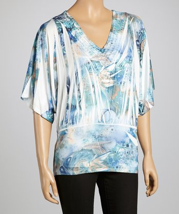 Blue & White Sublimation Top