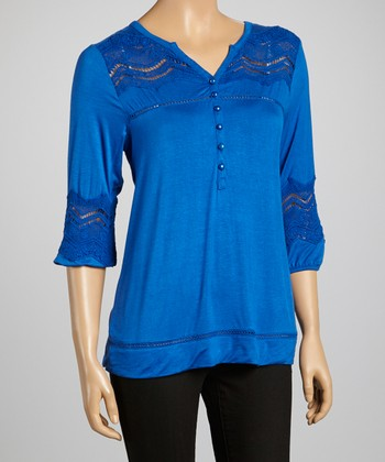 Lapis Embellished Top