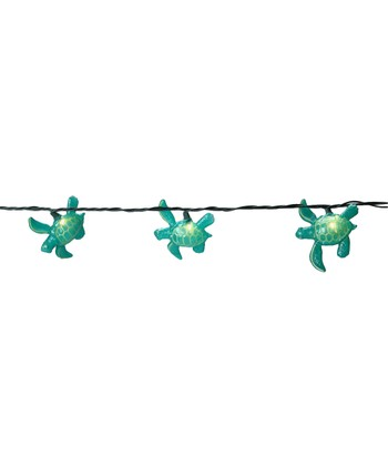 Blue Sea Turtle String Lights