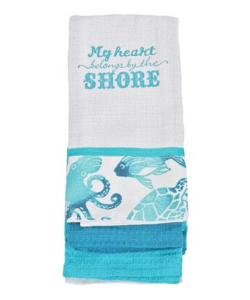 'My Heart' Dish Towel - Set of Three