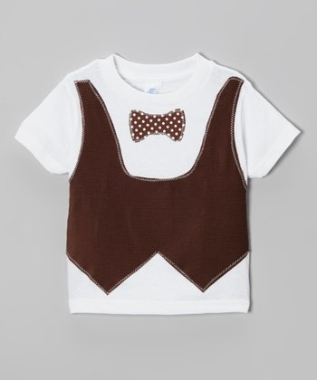 Brown Vest & Tie Tee  - Infant, Toddler & Boys