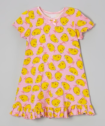 Pink Little Chicks Nightgown - Toddler & Girls