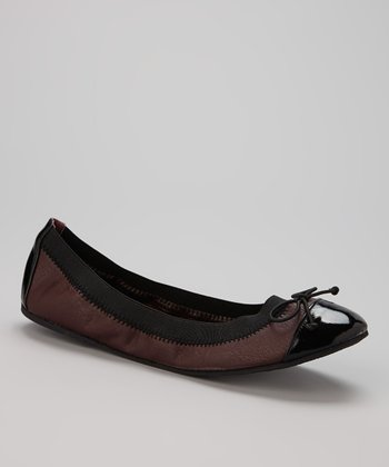 Black & Wine Distressed Flat