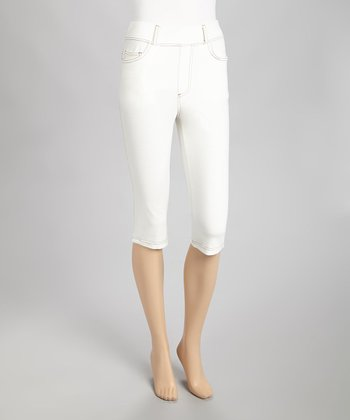 White Bermuda Jeggings