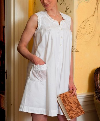 White Lace Rosie Nightgown - Plus