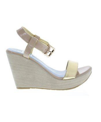 Nude & Gold Capri 8 Wedge