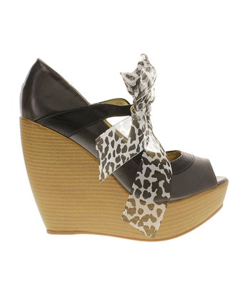 Gray Gray Rio 1 Peep-Toe Wedge