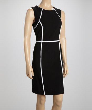 Voir Voir Black & White Sheath Dress