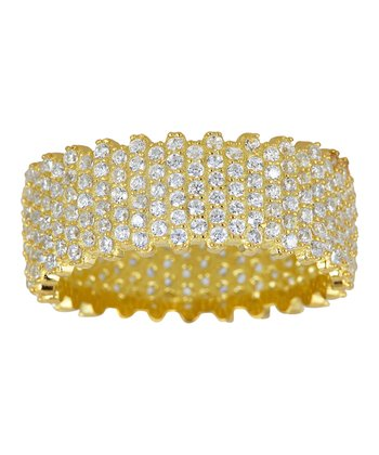 Gold & Cubic Zirconia Eternity Ring