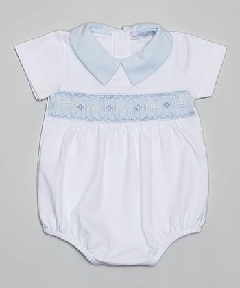 Light Blue & White Bubble Bodysuit - Infant