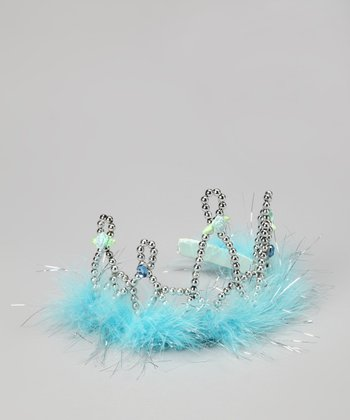 Blue & Silver Beaded Crown
