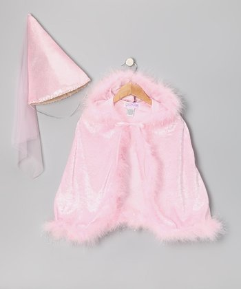 Princess Paradise Pink Swirl Velour Cape & Damsel Hat