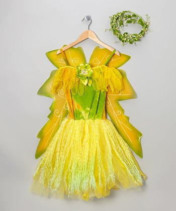 Yellow Woodland Fairy Dress-Up Set - Girls