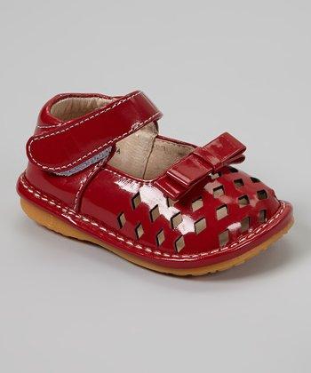 Laniecakes Red Diamond Cutout Squeaker Mary Janes
