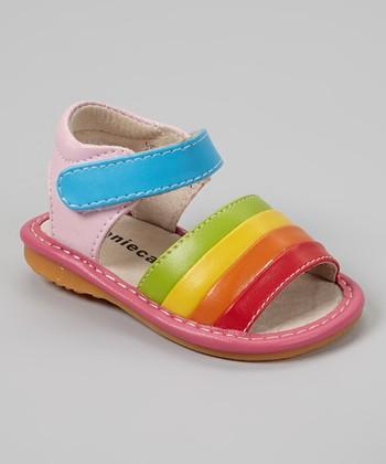 Laniecakes Pink Color Splash Squeaker Sandal
